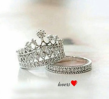 送料無20号2個重ね付けスーパーCZダイヤクラウン王冠リング指輪