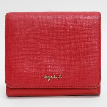 アニエスb二つ折り財布 レザー 赤 良品 正規品
