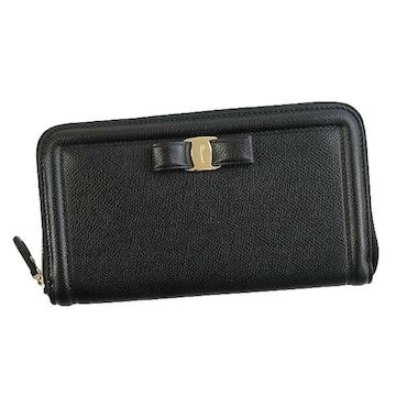 ★サルヴァトーレフェラガモ ラウンドファスナー長財布(BK)『22C908』★新品本物★