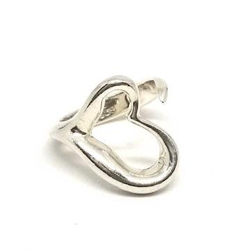 正規ティファニーリング指輪オープンハート約8号ハートエル