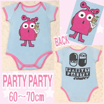 【PARTY PARTY/60〜70】キャラクタープリントロンパース