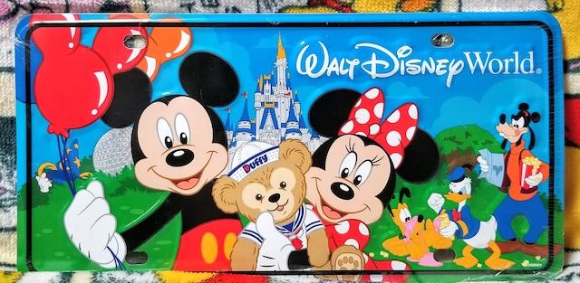 WDW☆ミッキー&フレンズ【ナンバープレート】ダッフィーと一緒★デコレーションプレート
