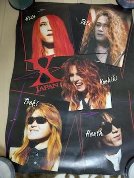 X JAPAN 特大ポスター 1993年 記者会見 83cm×60cm YOSHIKI hide