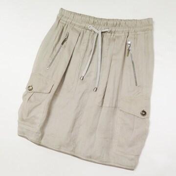 ブルネロクチネリ リネン ラミー サイドポケット スカート