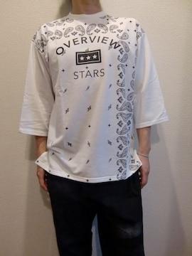 送料無料☆juniorsweetペイズリー柄七分袖ビッグTシャツ☆M