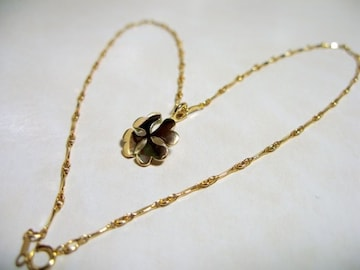 仁尾彫金『ゴールドハートクローバーペンダント』ハンドメイド9