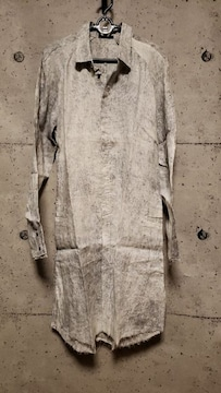 新品KMRIIケムリ Powder Storm Linen Long Shirt 2