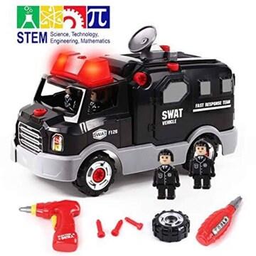 police car Gilobaby 組み立ておもちゃ DIY 車セット 建設車両