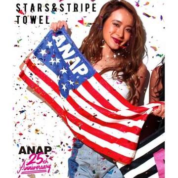 新品ANAP☆ロゴ タオル アメリカ国旗 アナップ