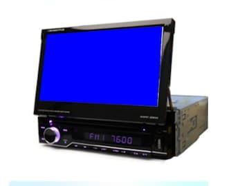 7インチタッチパネル1DIN DVDプレイヤー2×2フルセグ
