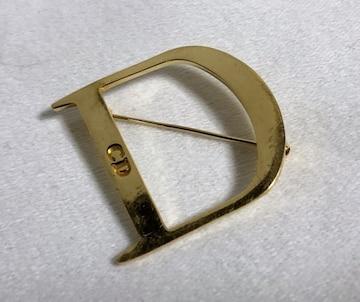 正規レア Diorディオール ヴィンテージ CDロゴ×Dデザインブローチ金 Dior Homme