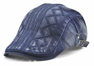 送料無料 ハンチング帽子 ウォッシュ加工 キャップ 帽子 HJ10-2