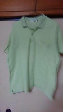 半袖【中古】ポロシャツ ポケット付き 綿100% L グリーン