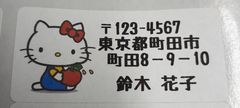 sale☆w5-3/差出人シール☆キティ*りんご《30枚》