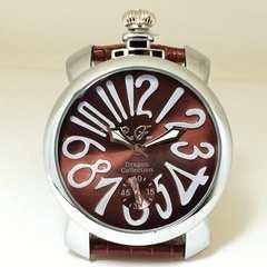 Club face★上品な腕時計★おしゃれな茶&銀★メンズ