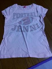 キラキラロゴ半袖Tシャツ130ピンク