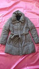 ★千鳥格子お洒落ふかふか軽くて暖か中綿ダウンジャケットコート