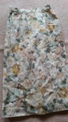 日本製 花柄 綿スカート 古着 ウエスト63