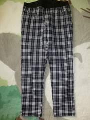 黒×白♪チェック柄パンツ♪L〜LLサイズ♪W77〜85