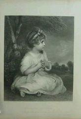 絵画 銅版画 ジョシュア・レイノルズ『無垢の時代』巨匠