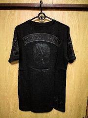 新品Roenロエン 刺繍ワッペンコーティングスカルTシャツ 44