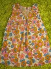 ●キュートな花柄コットンガーゼ生地ワンピース● 90未使用