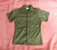軍物■ミリタリー フィールドシャツ オリーブグリーン 半袖 M