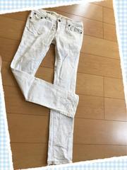 白/ホワイト/スキニーパンツ/ウエスト64センチ
