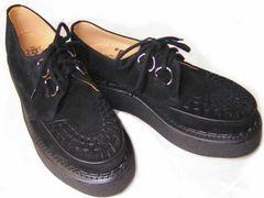 ジョージコックス英国3588新品ブラック スエ−ド 厚底靴uk9