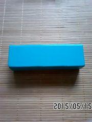 JINS・ターコイズカラーボックス型メガネケース