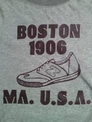 new balance ニューバランス BOSTON 1906 デザイン Tシャツ グレー Mサイズ