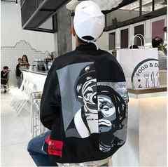 ピエロ MA‐1 ジャケット オルチャン 黒 Lサイズ