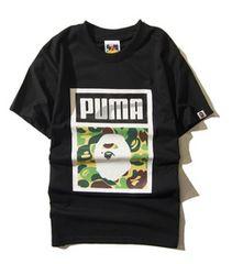 ape 半袖Tシャツ L  黒 エイプpuma a bathing ape