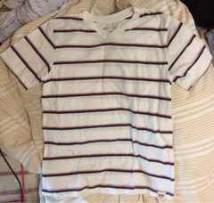 ギャップ◆140◆カッコイイVネックボーダー半袖Tシャツ