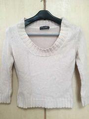 □《DOLCE&GABBANA》カシミヤ100%セーター ベージュ 38□