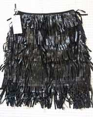 ☆新品moussy黒フェイクレザーフリンジスカート☆1¥15700