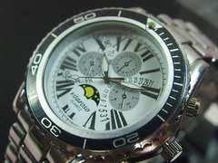 【送料無料】Vitarosoメンズ腕時計メタルウォッチムーンフェイス