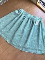 新品 つるんとした生地のドット柄スカート大きいサイズ4L