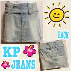 【KP JEANS】着回し◎ウォッシュ加工デニムミニ