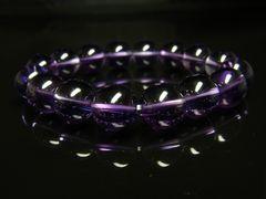 幸運を呼ぶパワーストーン 紫水晶アメジストブレスレット 12ミリ数珠