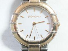 5624/イヴサンローラン定価5万円位高級仕様コンビモデルメンズ腕時計