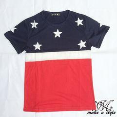 US星条旗 国旗 TEE Tシャツ 半袖 フラッグ 旗 アメリカ USA 96L
