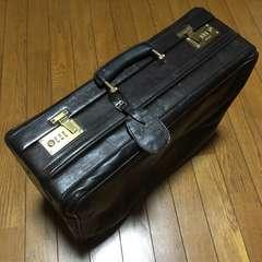 超激レア ドイツ madler ギミック付 レザースーツケース 濃茶