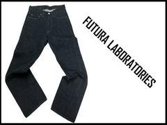 新品 Futura Laboratories Jeans フュチュラデニムジーンズ黒 XS