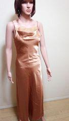 美品キャバ…胸元フェイク背編み光沢のドレス☆3点で即落☆