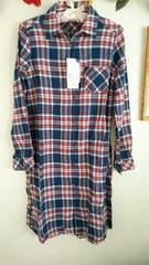 未使用タグ付き★チェックのロングシャツ☆ネルシャツ♪Mサイズ