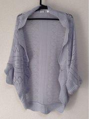 セール!新品 リップス 青ブルー カーディガン かぎ編み 羽織り