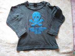 eaB ラッドカスタム 長袖Tシャツ 90 used グレー ドクロ