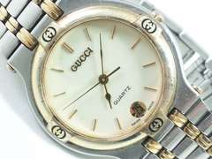 6057/GUCCIグッチ★定価15万円位高級コンビ仕様メンズ腕時計9000M