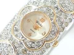 8647/winksキラキラブレスレット型デザインレディース腕時計格安出品素敵